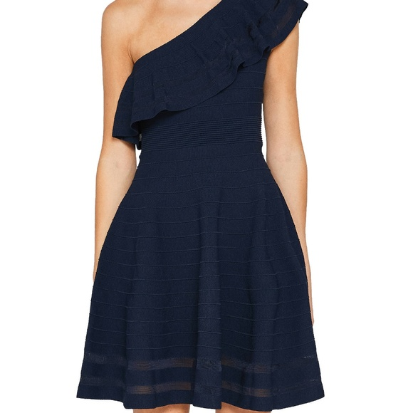 bc0c9f0be675 Ted Baker Streena One Shoulder Knitted dress. M 5c6202114ab633b5880ea66f